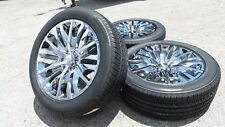 Chrome 22 Silverado Tahoe 2019 2018 Wheels Rims | Factory Bridgestone Tires 5921