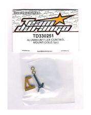 RC Team Durango TD330251 ALUMINIUM FLEX CONTROL MOUNT Gold DETC410 v2 1/10 Car