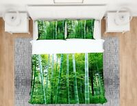 3D Bamboo Forest NAO2893 Bed Pillowcases Quilt Duvet Cover Set Queen King Fay