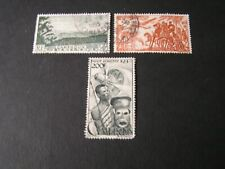CAMEROON, SCOTT # C26-C28(3) 1947 COMPLETE SET AIR POST PICTORIAL ISSUE USED