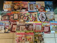 22 Back Issues Of Cross Stitch Pattern Magazines