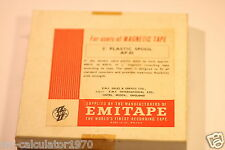 "EMITAPE MAGNETIC RECORDING TAPE REEL-TO-REEL AP.85 5"" PLASTIC SPOOL"