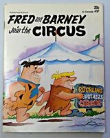 1972 FRED AND BARNEY JOIN THE CIRCUS Hanna-Barbera Softcover Book Flintstones