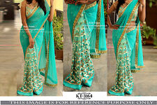 Indian Party Wear Bollywood Thread Work Sari Bridal Wedding Pakistani Sari