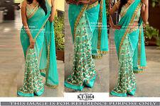 Indian Party Wear Bollywood Thread Work Sari Bridal Wedding Pakistani Sari