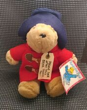 "NWT Sears 10"" Paddington Bear Plush Red Raincoat / Blue Hat with neck tag!"