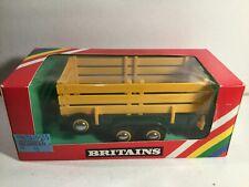 Vintage 1980 Britains Farming 9555 Animal Trailer Near Mint In Box