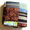Vintage Patchwork Mix Modern print Thorw, Blanket or Quilt with two pillow cases