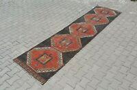 turkish runner,3x12 ft,Turkish Rug,Anatolian Rug,Bohemian,Vintage rug,Oushak Rug