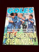 FIFA WORLD CUP 1994 GOLES Magazine Argentina vs Greece RARE DIEGO MARADONA
