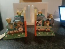 San Francisco Music Box Co Baby Express Bookends Original Packaging
