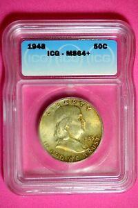 1948 ICG MS64+ Franklin Half Dollar #B29006