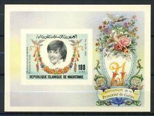 Mauritania 1982 Mi. Bl.35 Foglietto 100% Principessa Diana ** non dentellati
