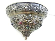 BR283 Antique Moroccan Style Conical Jeweled Wall Sconce / Lamp