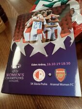 Slavia Prague v Arsenal women Programme
