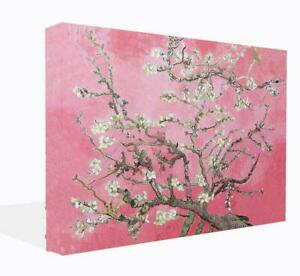 Van Gogh Pink Almond Blossom Canvas Wall Art Print. Picture Framed Ready To Hang
