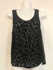 WILLOW SLEEVELESS BLOUSE / TOP WITH FUR SIZE 8