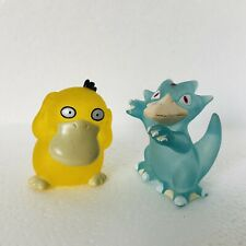 1997 Clear Psyduck & Golduck vtg Nintendo Pokemon Bandai Toy Figures Rare f