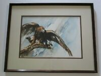 KATHY PAIVINEN PAINTING AMERICAN EAGLE WILD LIFE NATURE ORGANIC REALISTIC GEM
