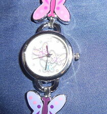 """SO LADIES/JUNIOR BUTTERFLY WATCH 7"""" BAND MULTI-COLOR BUTTERFLY BAND"""