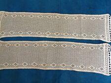 Vintage Crocheted Window Nets 108x26cm