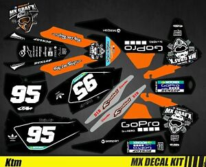 Kit Deco Motorcycle For / MX Decal KTM SX / Sx-F - GOPRO Black Edition