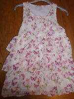 BNWT girls layered chiffony summer top with butterflies. Age 10 yrs. Matalan