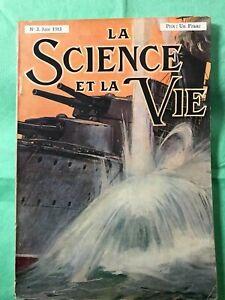 EDITION ORIGINALE REVUE LA SCIENCE ET LA VIE N°3 de juin 1913