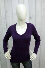 TOMMY HILFIGER Taglia XS Maglione Blu Donna Sweater Cotone Pullover Pull Casual