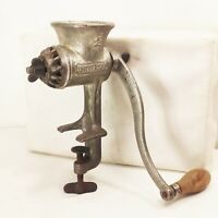 Vtg antique Universal 2 hand crank food meat sausage grinder chopper processor