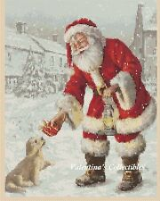 Santa and Puppy Counted Cross Stitch COMPLETE KIT #4-358
