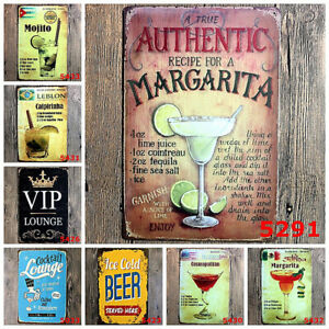 Vintage Retro Painting Tin Sign Poster Metal Plaque Rustic Club Home Bar