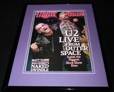 U2 Bono & The Edge Framed 11x14 Original 2009 Rolling Stone Cover
