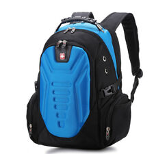 15.6'' Blue Swiss Laptop Bag Business Backpack Travel Hiking Bag School Rucksack