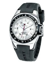 Tommy Hilfiger Mens Black Rubber Watch 1790485