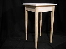 unfinished wooden small tapered leg Dorm table night stand end table wall table