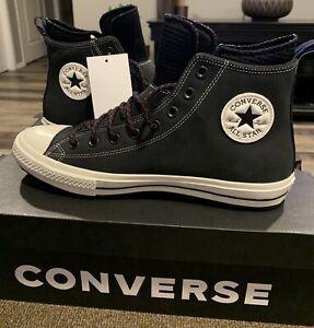 NIB Converse Chuck Taylor All Star High Top Boot Black Men's 166607C-SZ  10 1/2