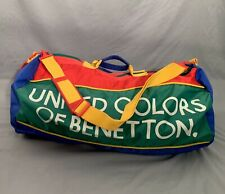 Vintage UNITED COLORS OF BENETTON Color Block Duffel/Travel Bag ~Free Shipping!