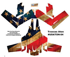 USA Flag Traxxas Aton Plus Body Wrap Decal Skin Sticker Canopy American Ultra...