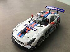 """CARRERA DIGITAL 124 23825 Mercedes Benz SLS AMG GT3 """"Martini No.33 NEU STP FOTOS"""