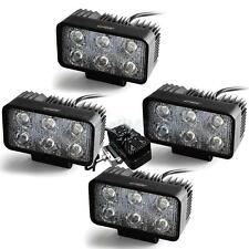 "4Pcs 5"" 18W Spot Square LED Work Light Bar Offroad SUV 4WD Driving Lamp Boat 12V"