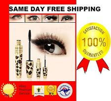 2PC SET 3D FIBER LEOPARD LONG CURL PREMIUM BLACK MASCARA LASH EXTENSION EYELASH*