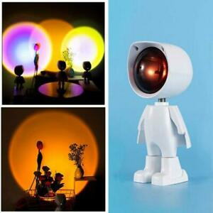 LED Sunset Rainbow Projector Atmosphere Night Light Lamp Wall Decor Light Y