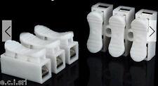 MORSETTIERA MORSETTO PVC ATTACCO RAPIDO A CLIP MOLLA TRIPOLARE ( conf. pz 2 )