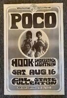 Poco Concert Poster 1969 Fullerton