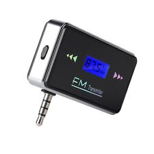 CAR KIT LCD WIRELESS FM TRANSMITTER MP3 PLAYER 3.5MM FOR IPHONE 5 5S 5C 6 6 plus