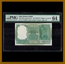India 5 Rupees, 1962-1967 P-36b Sig# 75 PMG 64 Unc