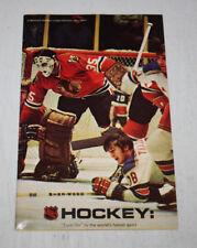 Vintage 1971 NHL Marketing Booklet Pamphlet Magazine Tony Esposito