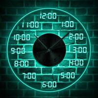 Fancy Big Wall Clock Giant Design Digital Numbers LED Back light Christmas Gift