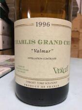 Verget Chablis Valmur 1996 LOT of 6 Bottles!